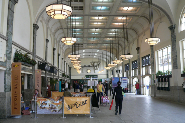 Central Cardiff Station concourse